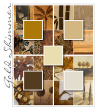 Gold Shimmer Color Palette