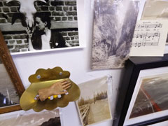 Jeni Lee's inspiration in her studio