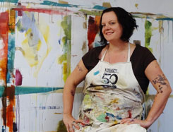 Jeni Lee in her studio