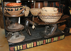 Swahili Stools and Baskets