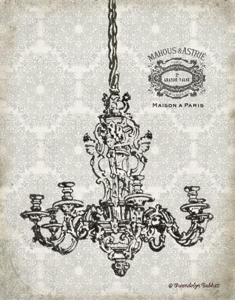 Vintage Chandelier II