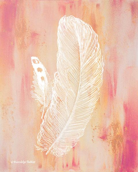 Whimsical Feathers I