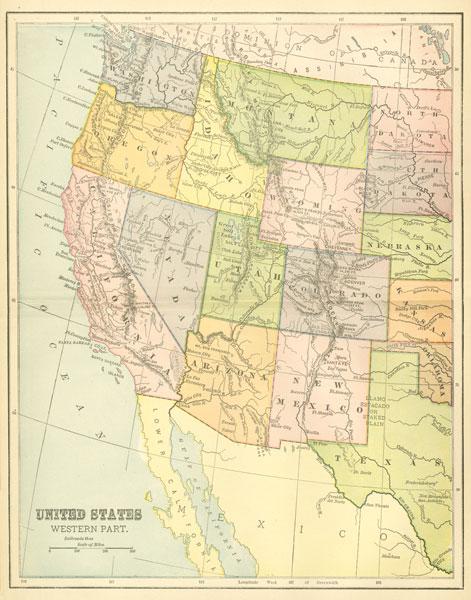 US Map West