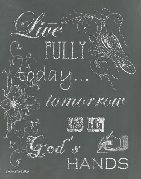 Live Fully Chalkboard