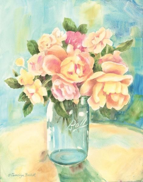 Roses In Jar