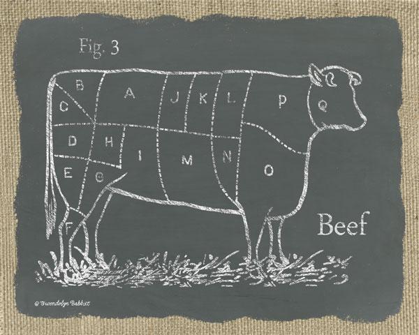 Cow on Burlap