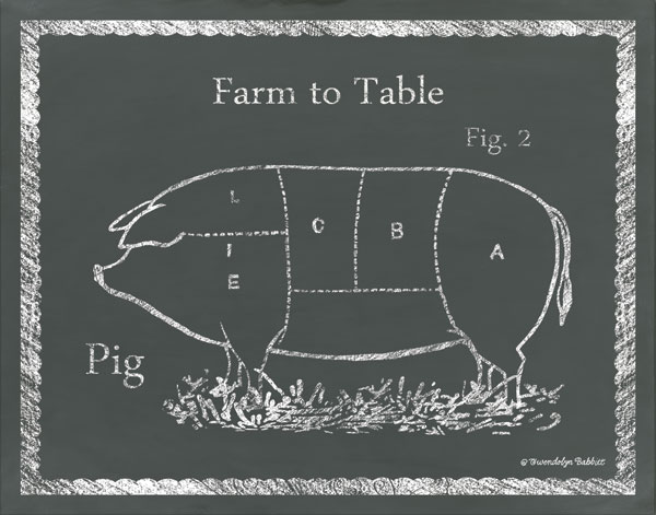 Sectioned Pig