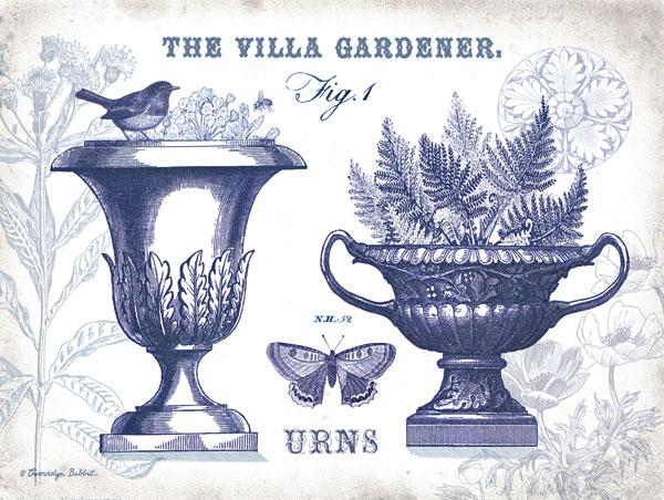 Garden Urns Indigo