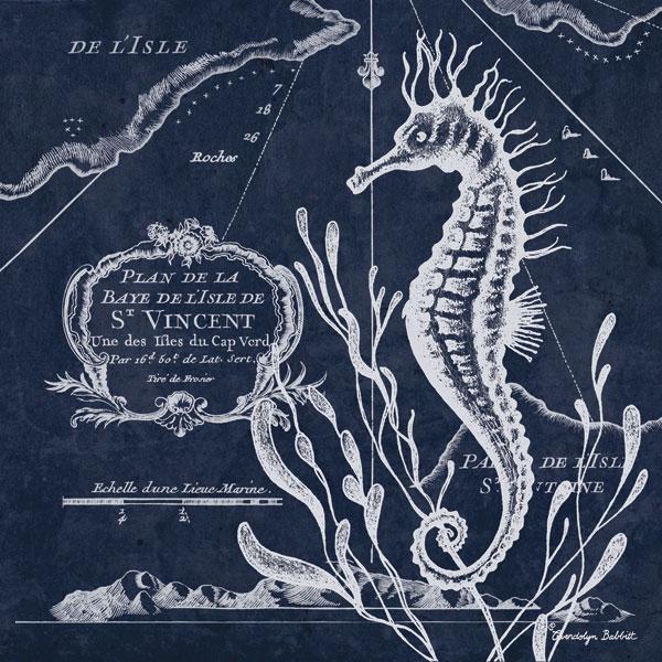 Seahorse on Blue II