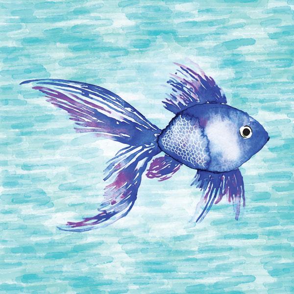 Deep Sea Blue Fish