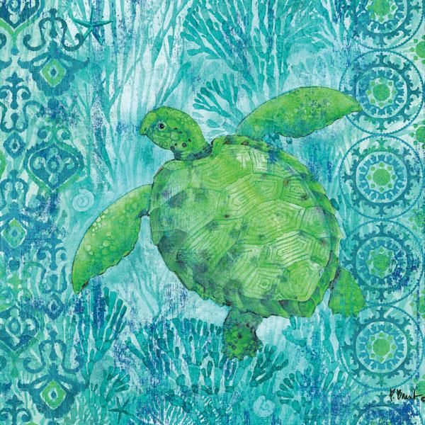 Turtle Batik Sq