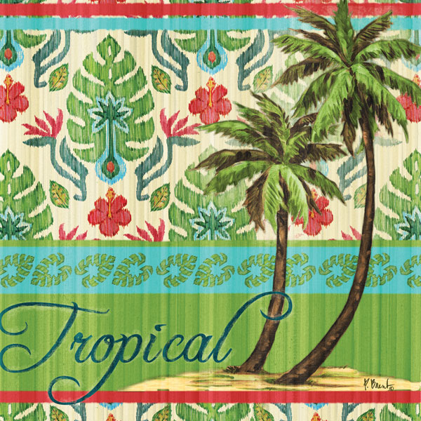 Tropical Ikat Palm II