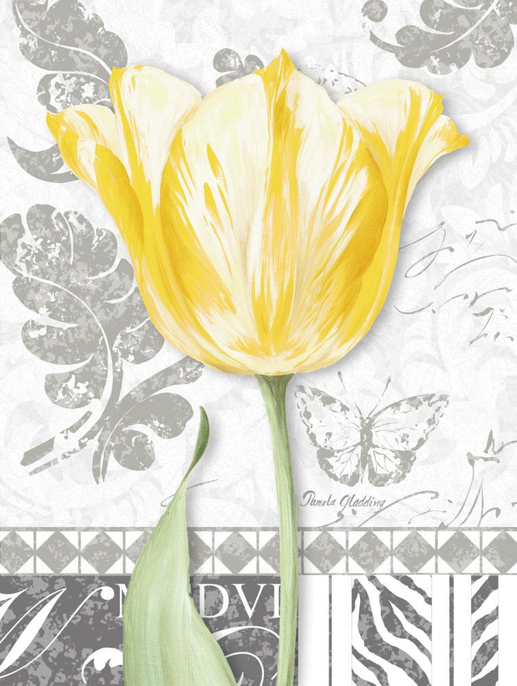 Damask Gray Tulips II