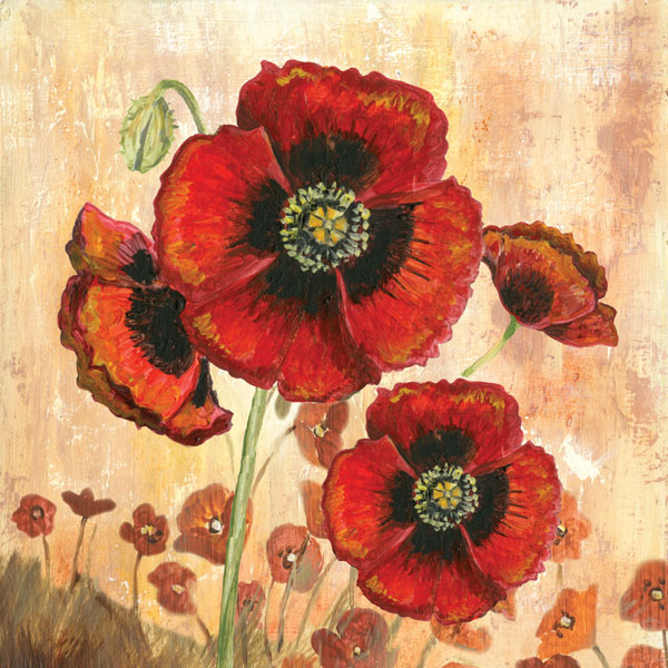 Big Red Poppies I