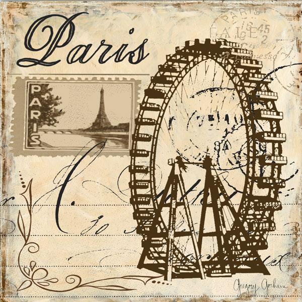 Paris Collage Sq III