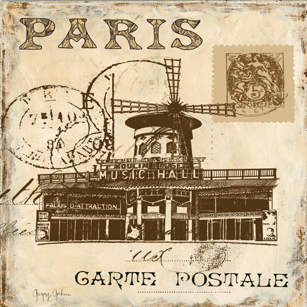 Paris Collage Sq. IV