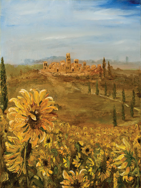 Tuscan Sunflowers I