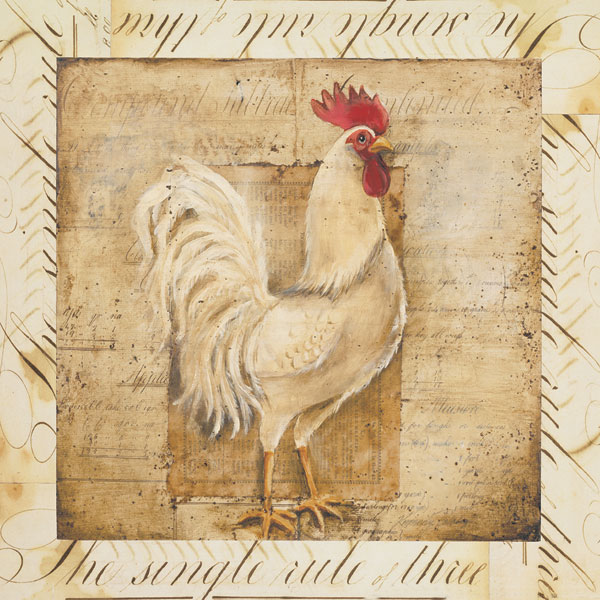 Rustic Farmhouse Rooster I - Special