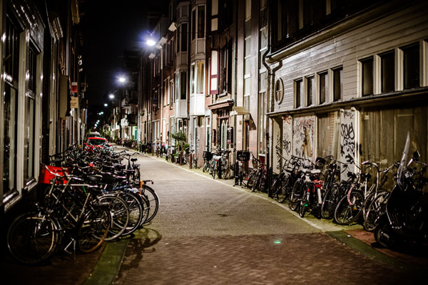 Amsterdam Bikes at Night II