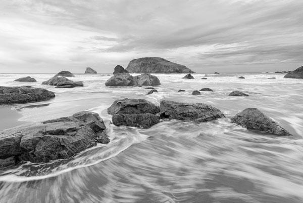 Harris Beach BW