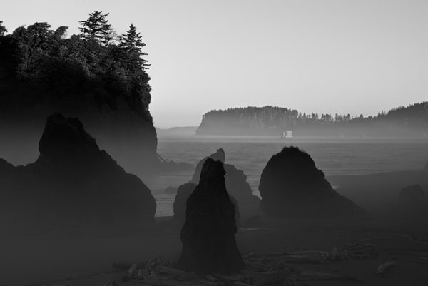 Ruby Beach Morning III BW