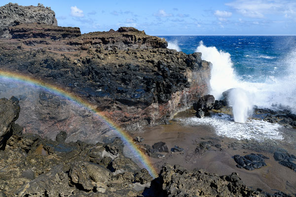 Rainbow at Nakalele Blowhole