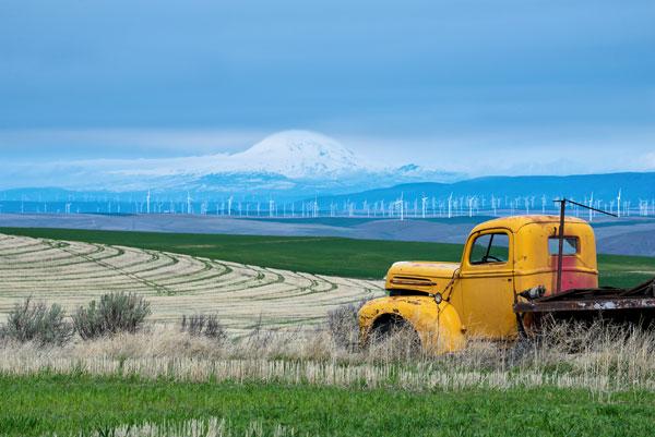 Old Truck & Mt Adams