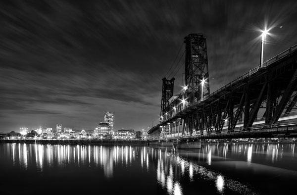 Steel Bridge BW