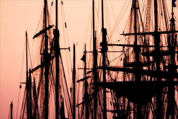 Tall Ships at Sunset 2