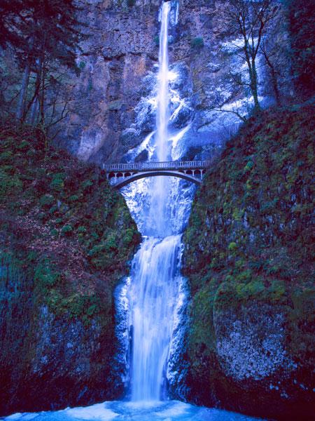 Multnomah Falls Winter