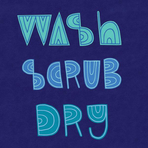 Wash Scrub Dry