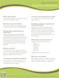 FAQ: Custom Printing